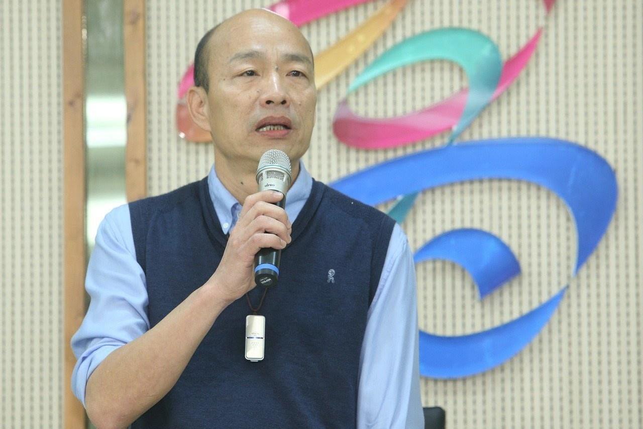 韓國瑜今天表示,無法參加黨內現行初選機制。 記者劉學聖/攝影