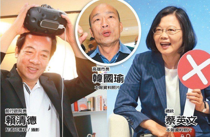 民進黨雖在黨內初選階段,但一直將韓國瑜視為頭號「假想敵」。本報資料照片