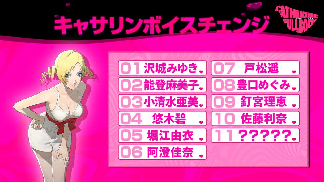 是的,這些聲優全部都是來自《Persona》(或真女神轉生)系列女角的聲音。