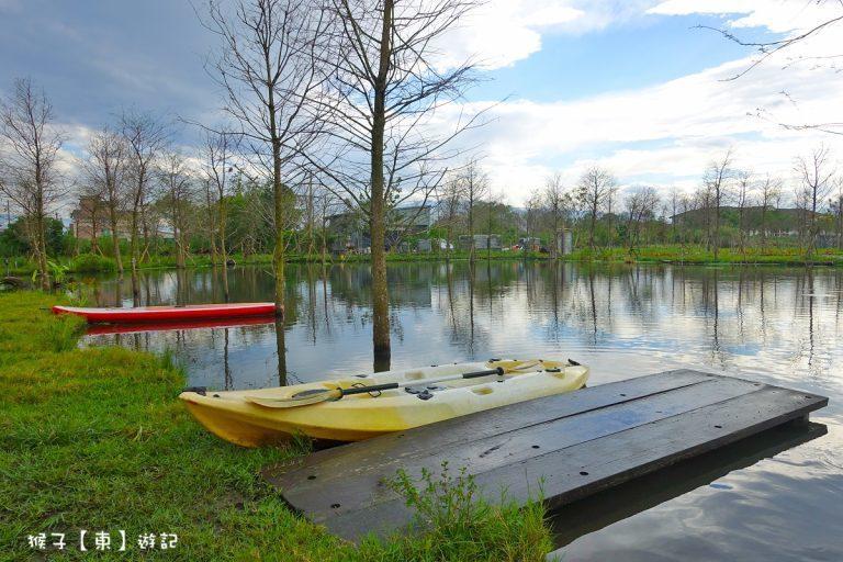 湖泊上可划獨木舟。圖/猴子【東】遊記授權提供,非經同意請勿轉載。(以下同)