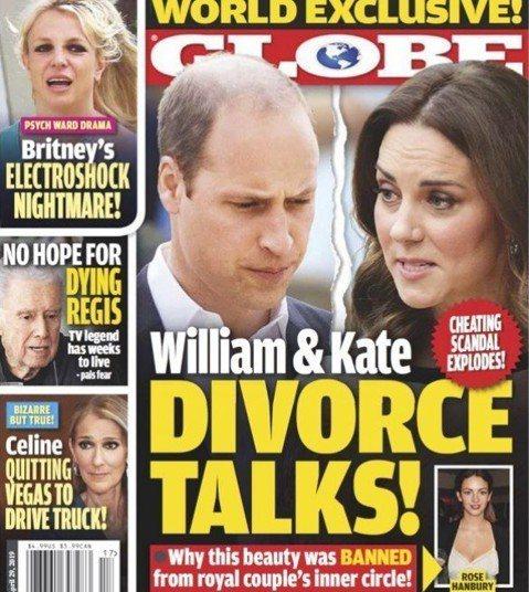英國皇室似乎總是被王子與配偶的八卦傳聞弄得烏煙瘴氣,雜誌更是時不時就會拿來作文章。近來關於英皇室最熱門的話題之一除了哈利王子的妻子梅根將臨盆外,還有威廉王子被指出軌、妻子凱特傷心不已,而「Globe...