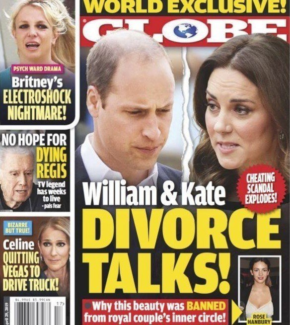 英國威廉王子與妻子凱特被傳陷入離婚危機。圖/摘自Globe