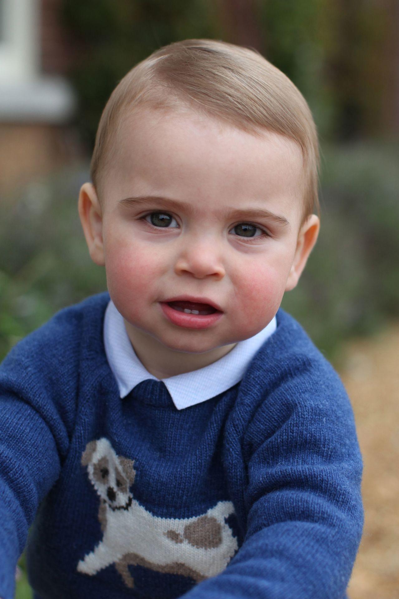 路易王子將滿一歲,肯辛頓宮公布他的照片。法新社