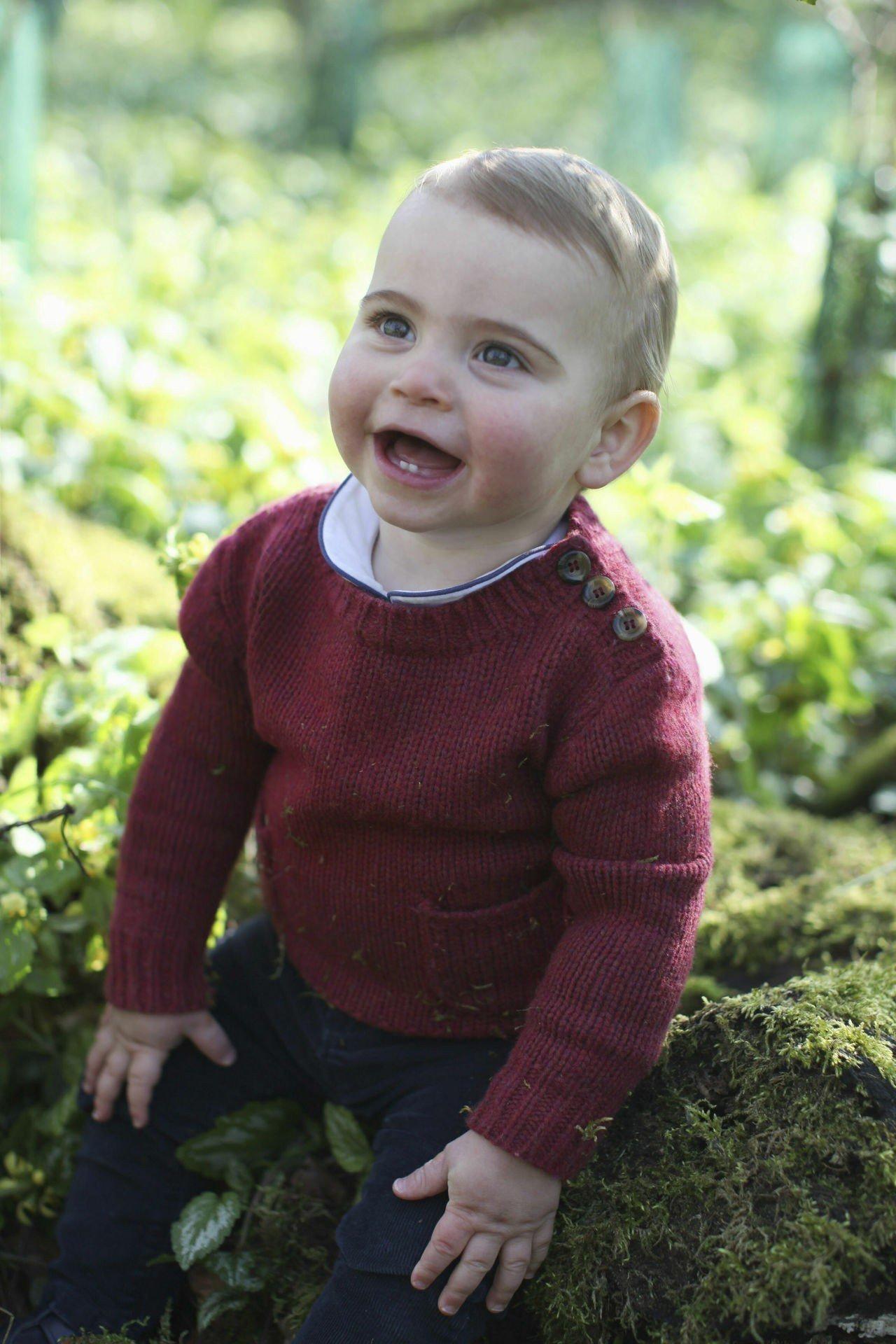 路易王子將滿一歲,肯辛頓宮公布他的照片。美聯社