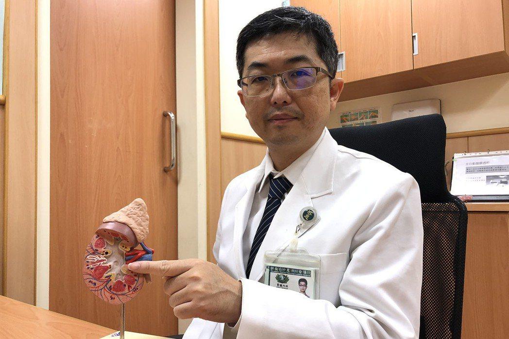 台中慈濟醫院腎臟內科陳一心主任表示,腎臟負責排泄人體廢棄產物,尤其對藥物或毒性物...