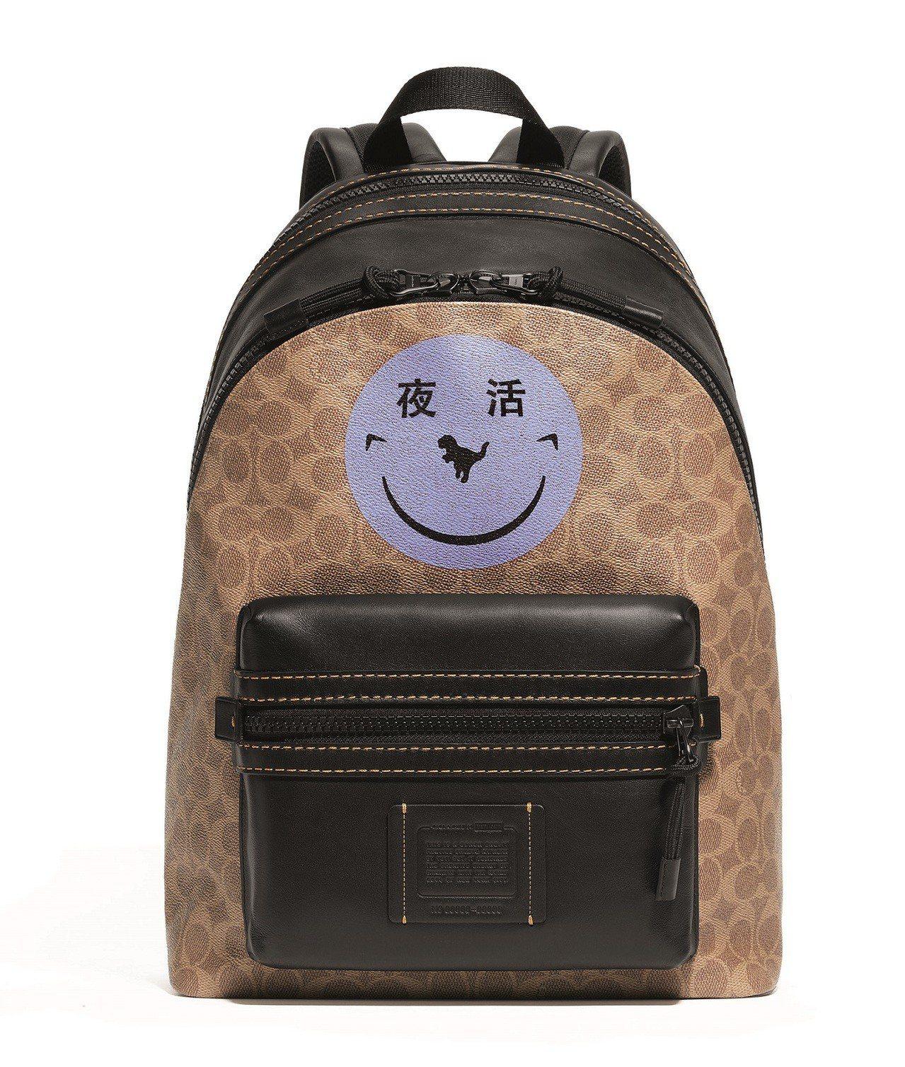 音樂團體YETI OUT笑臉塗鴉後背包,售價25,800元。圖/COACH提供