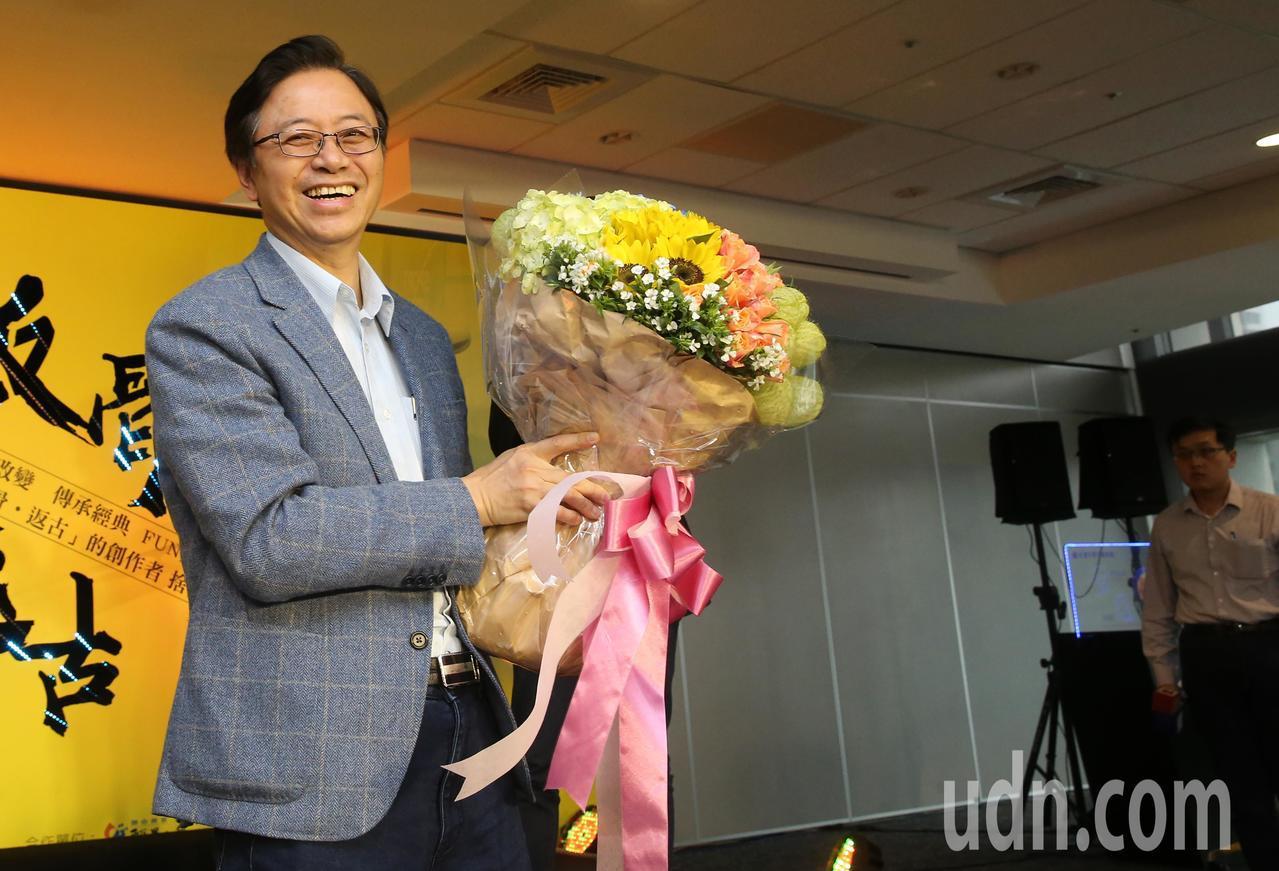 台灣大基金會董事長張善政今天宣布辭職。記者胡經周/攝影