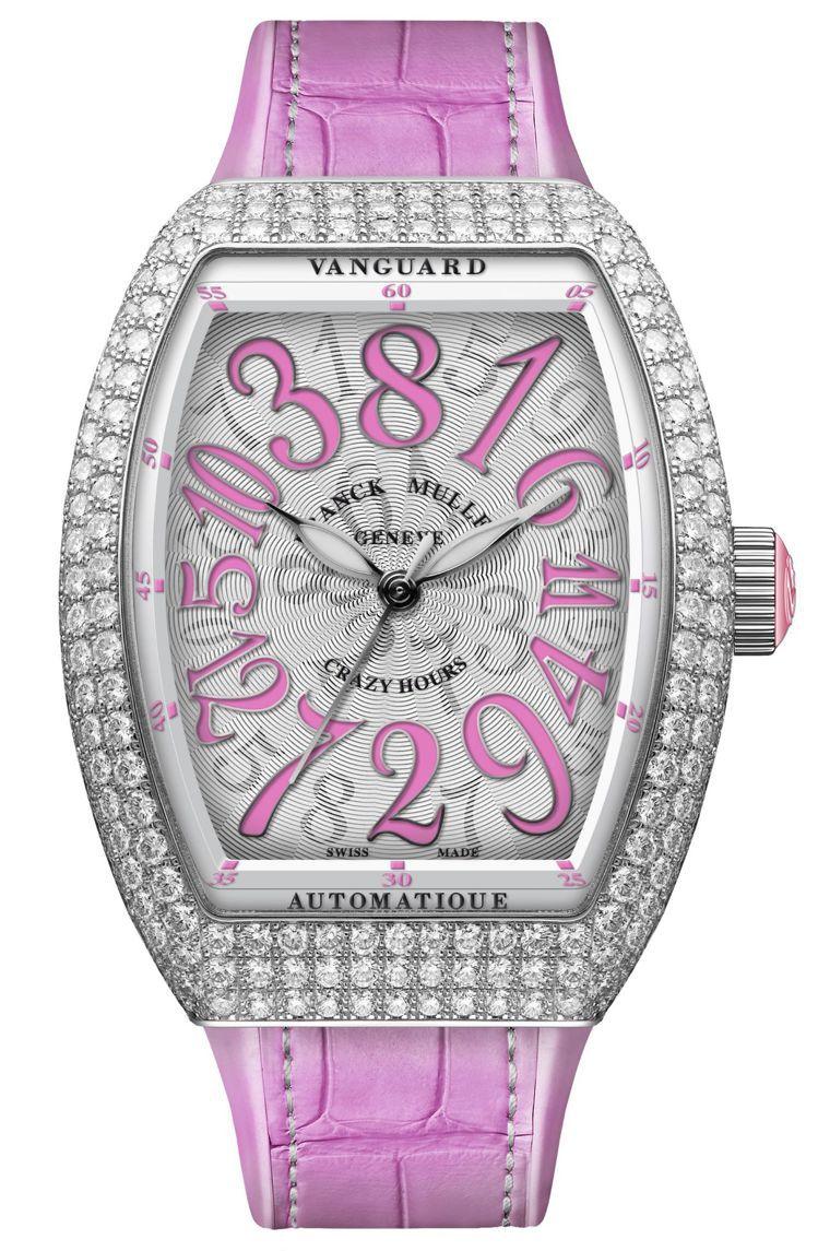 Vanguard Crazy Hours Lady 亞洲特別版鑽石腕表,不鏽鋼表...