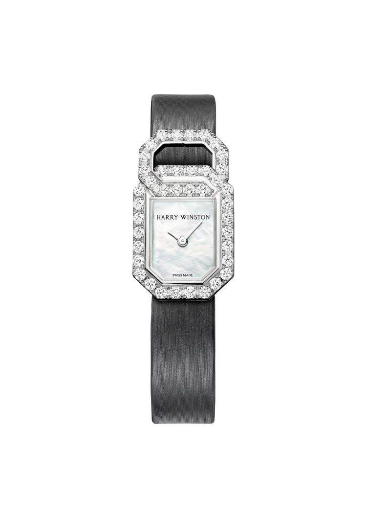 海瑞溫斯頓Links Signature系列頂級珠寶腕表,18K白金表殼,約92...
