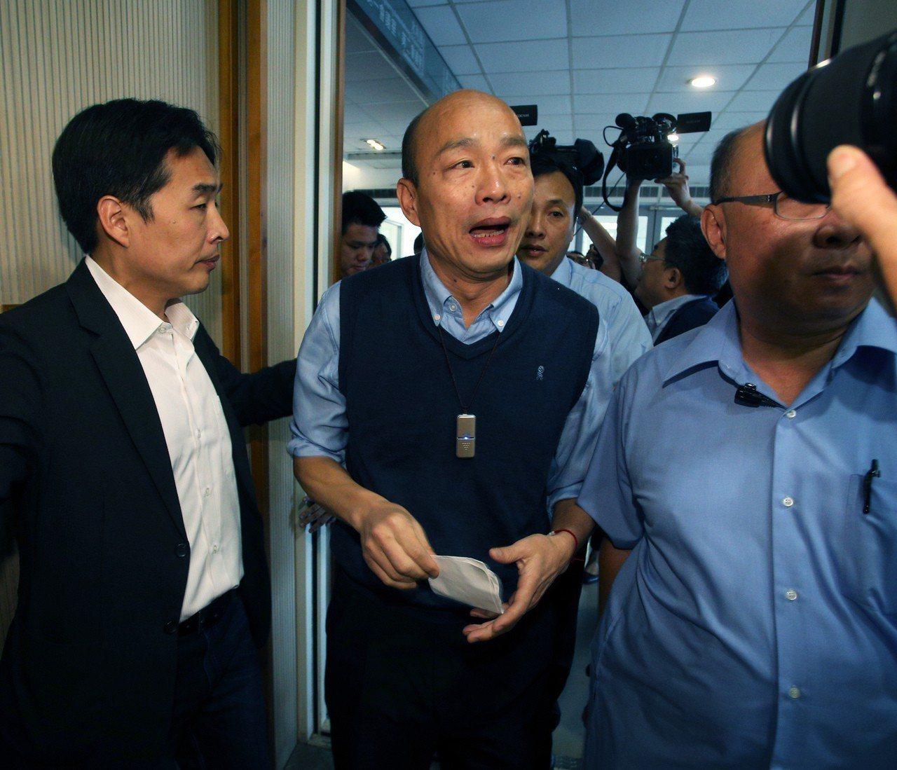 高雄市長韓國瑜發表聲明他無法參與現行國民黨的初選機制,立法院前院長王金平說,可體...