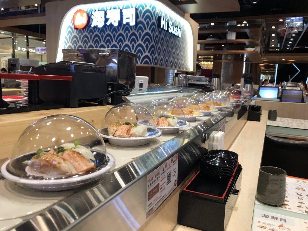 海壽司即日起自5月10日期間,於板橋大遠百店推出1元吃壽司的活動。圖/海壽司提供