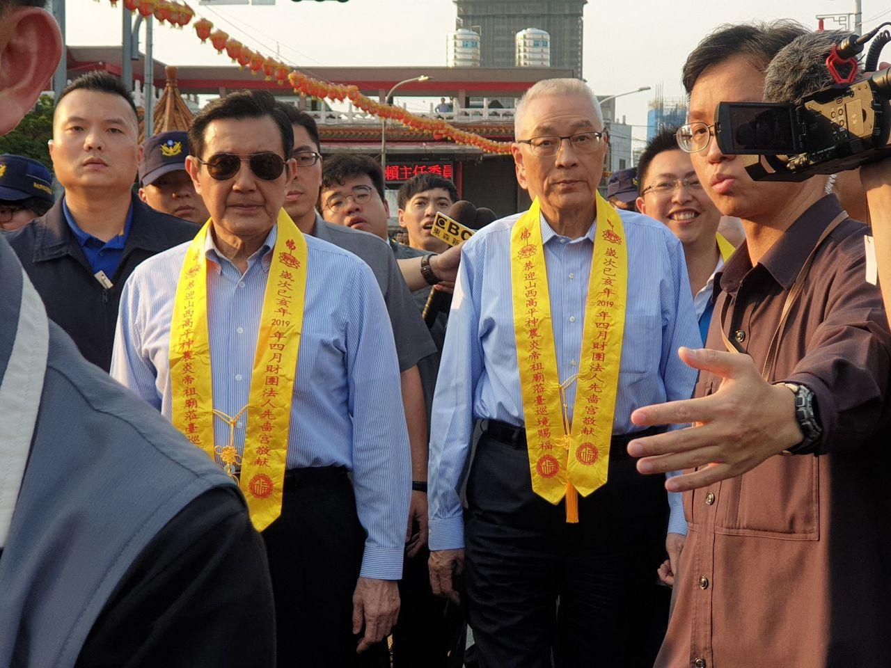 針對韓國瑜今早的聲明,國民黨主席吳敦義說,會讓他方便參加初選。記者胡瑞玲/攝影