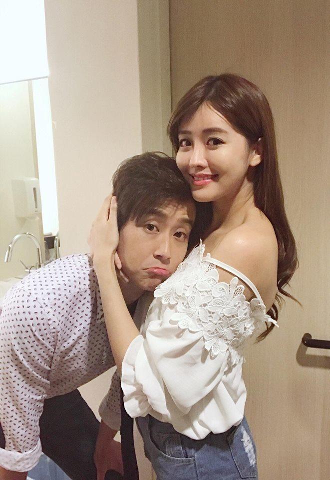 陳乃榮(左)對老婆賴琳恩道歉方式「交叉使用」。圖/摘自臉書