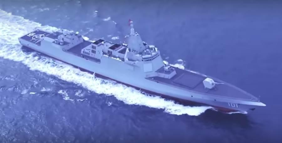 第一艘055大型驅逐艦「南昌」號。圖/「人民海軍」微博