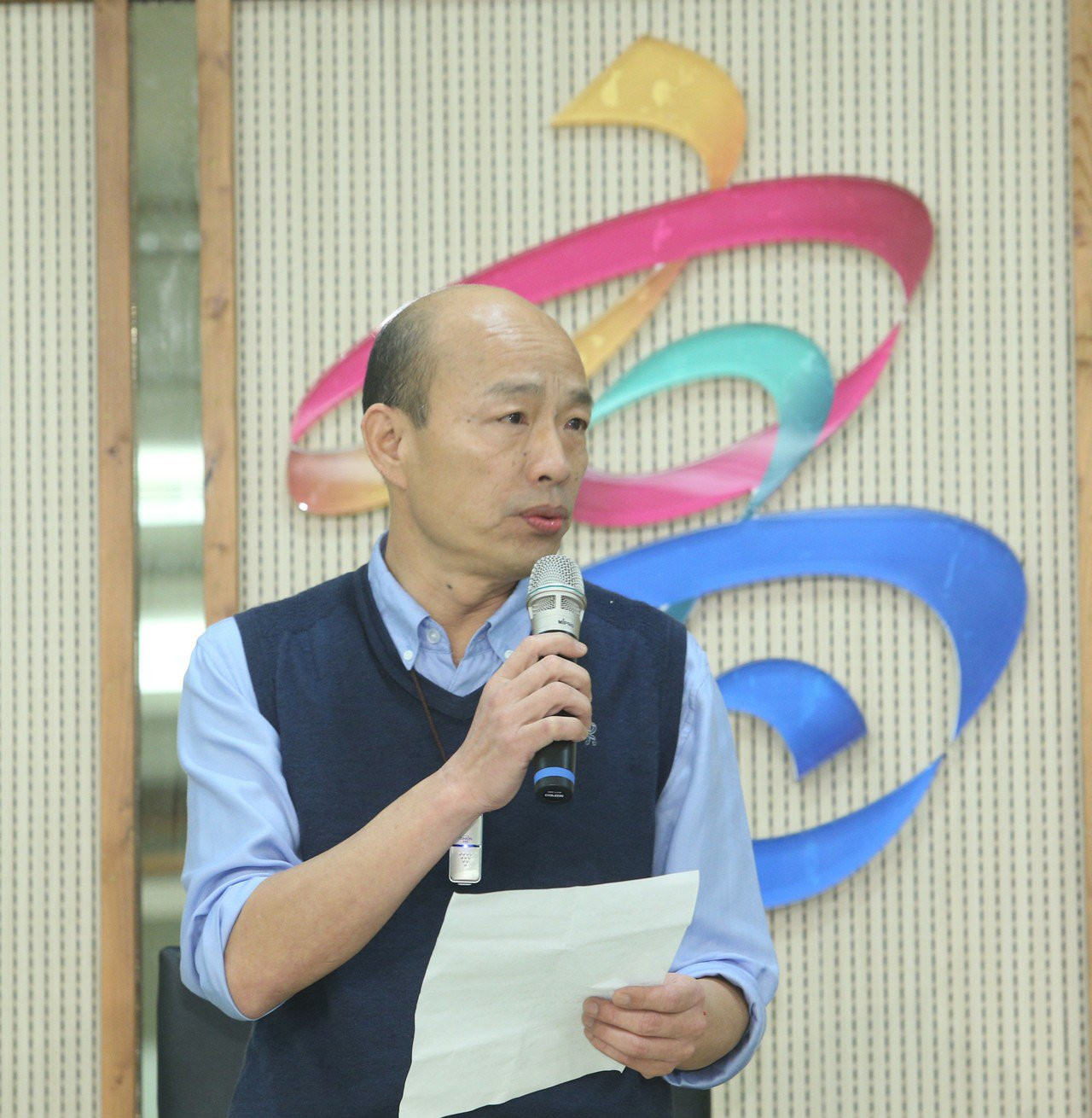 平時快人快語的高雄市長韓國瑜,今天上午發表是否參選2020總統5點聲明時,罕見地...