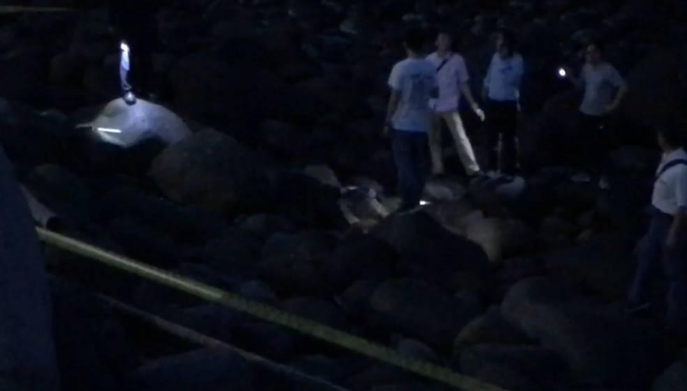 台二線38公里處傍晚發現一具浮屍,警消疑為泰山姊弟命案中失蹤的吳姓父親,警方漏夜...