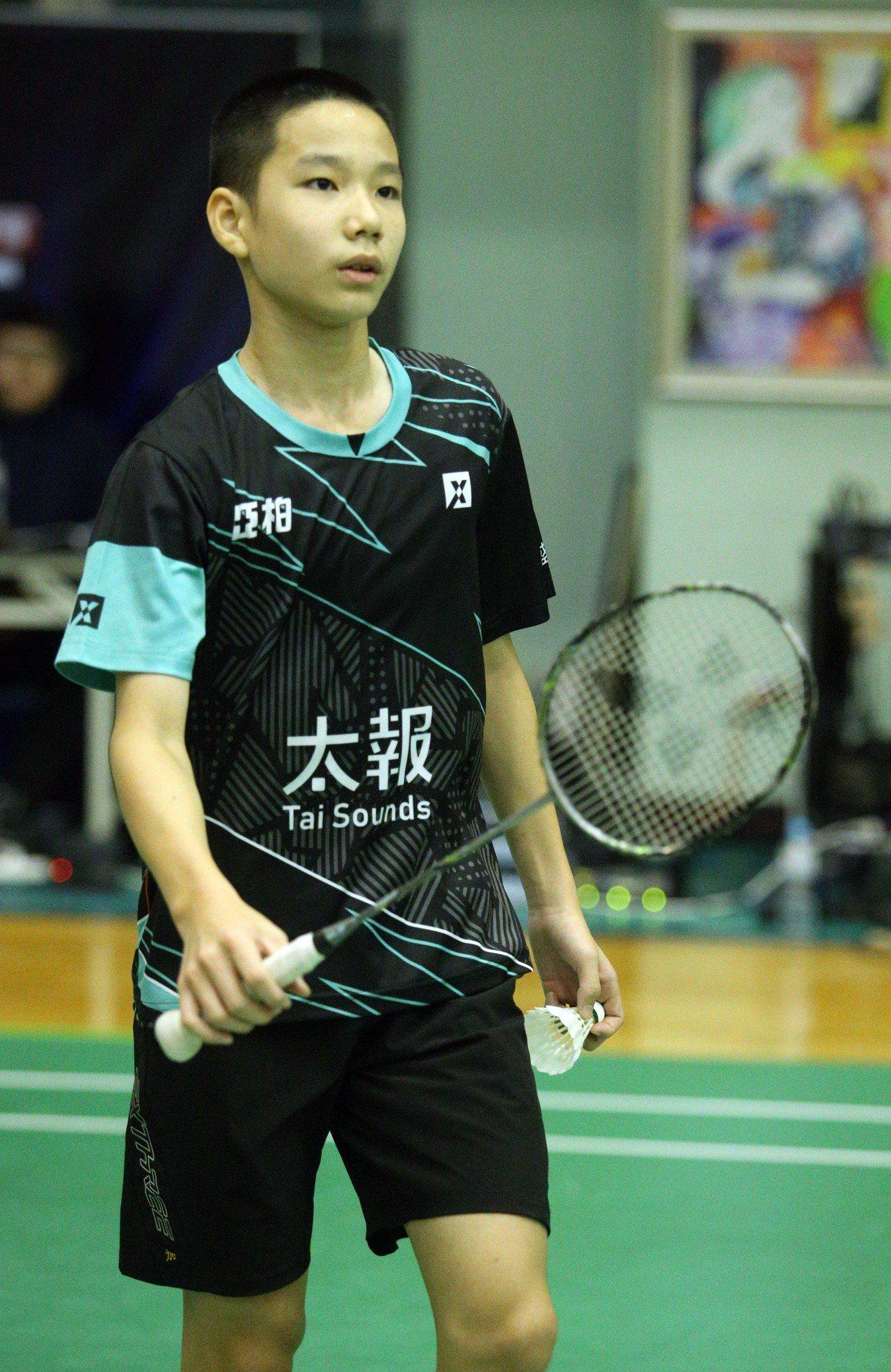 英明國中一年級小將朱宸加。記者劉學聖/攝影