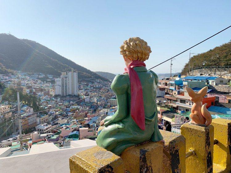釜山的「甘川文化村」是網路上的人氣打卡景點。記者張芳瑜/攝影