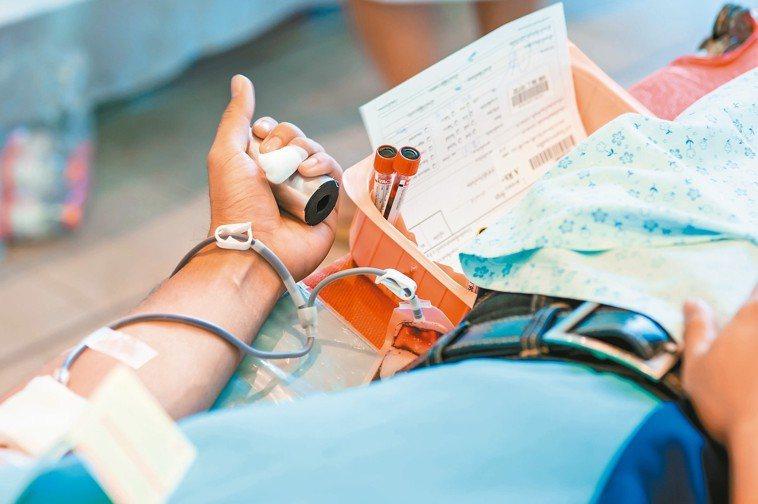 捐血示意圖。 圖╱123RF