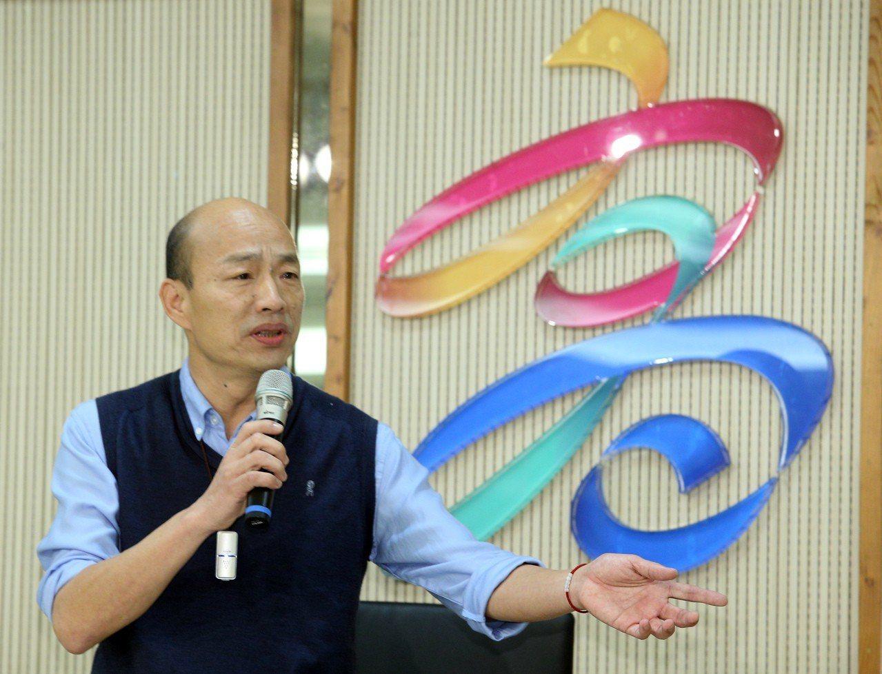高雄市長韓國瑜昨天發表聲明,他無法參與現行國民黨的初選機制。記者劉學聖/攝影
