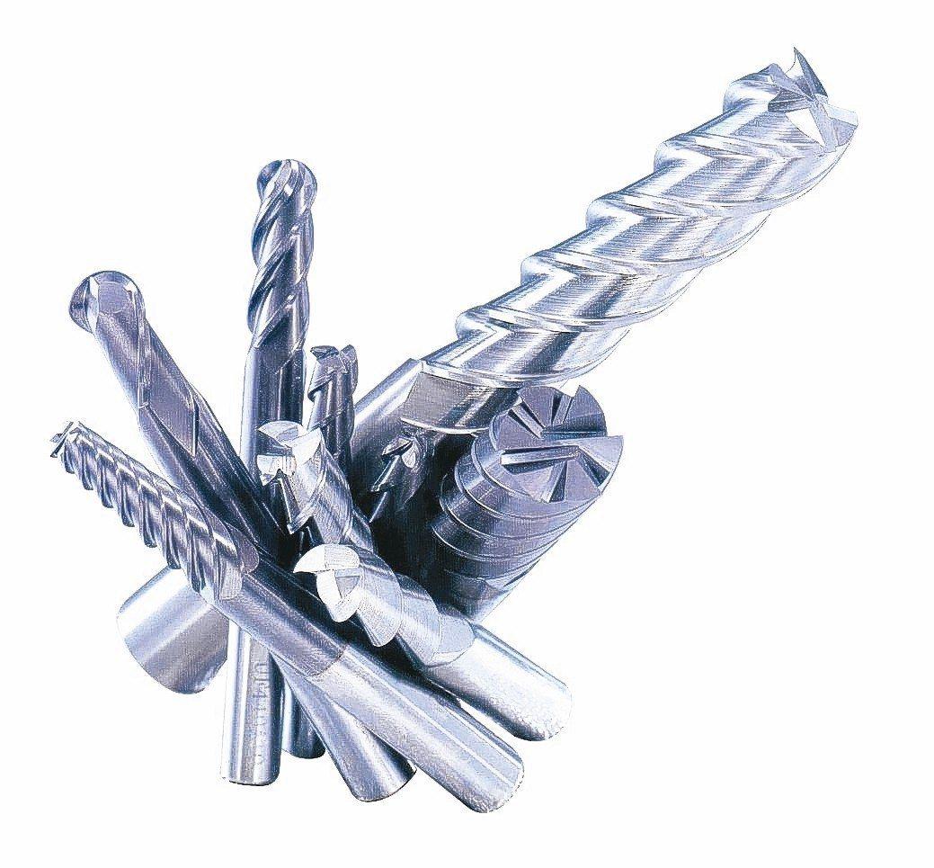 虹鋼富公司自創品牌「HKF」鎢鋼銑刀。 虹鋼富公司/提供