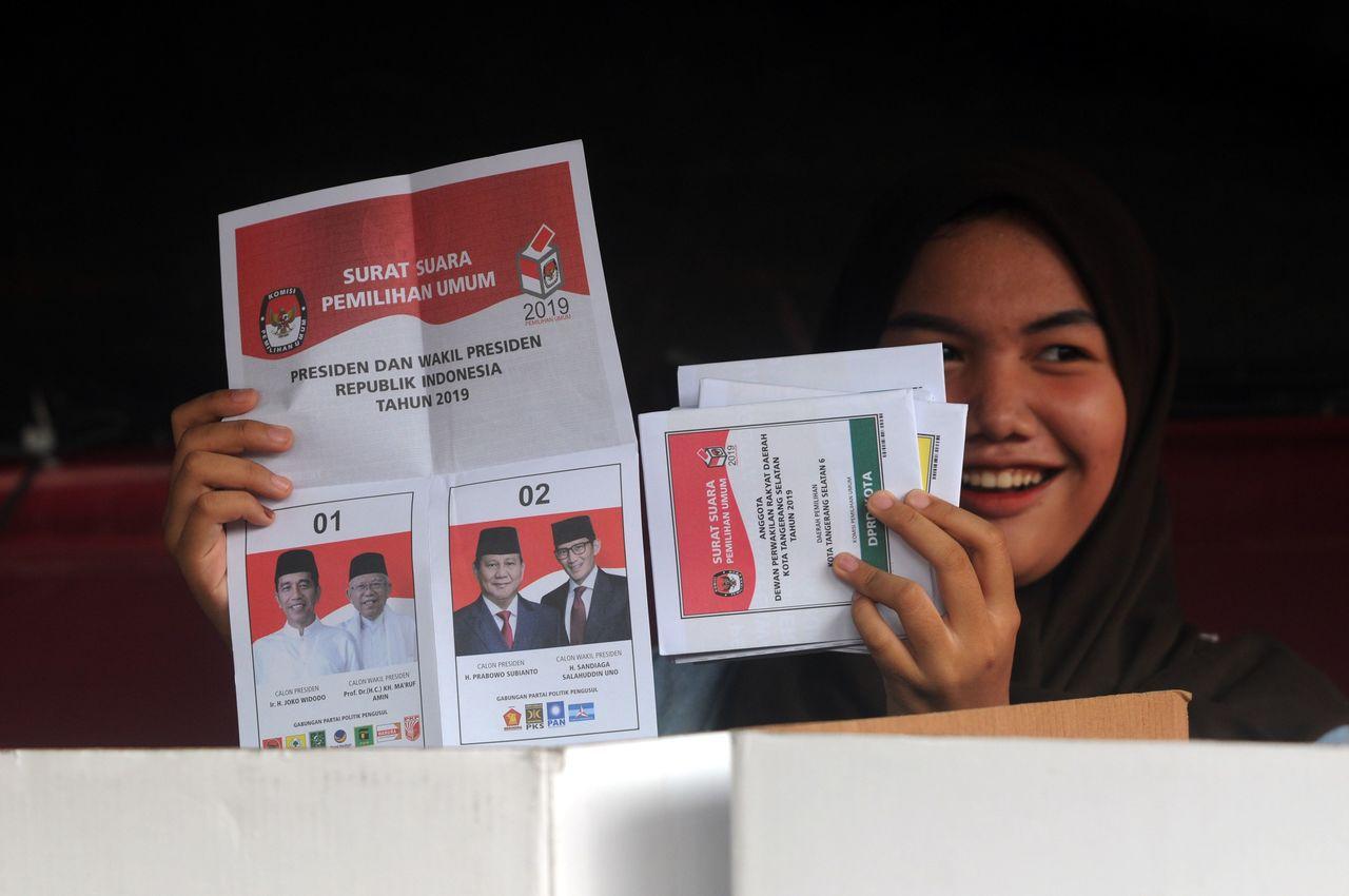印尼22日將公布總統及國會選舉結果。 法新社
