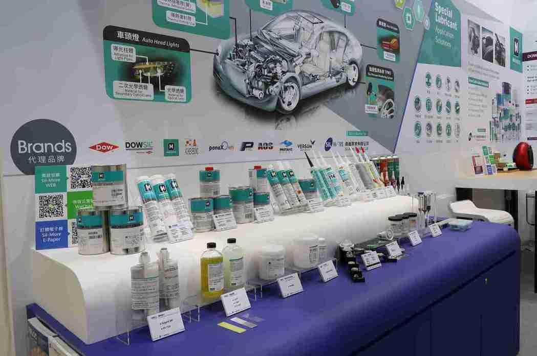 喬越為全方位專業電子膠材供應商,可協助客戶布局車用電子市場。 李炎奇/攝影