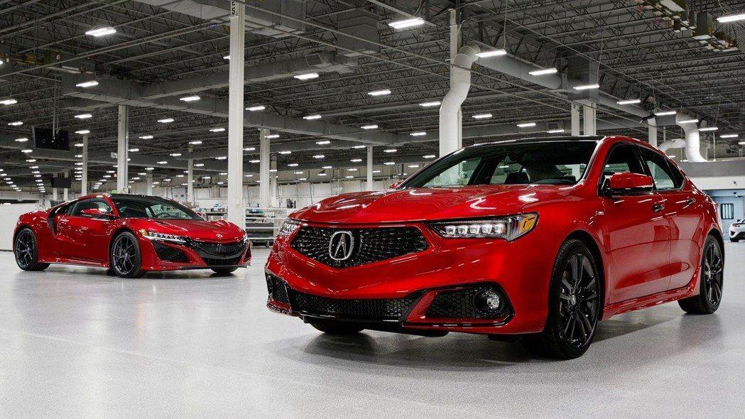 Acura TLX、NSX。 摘自Acura