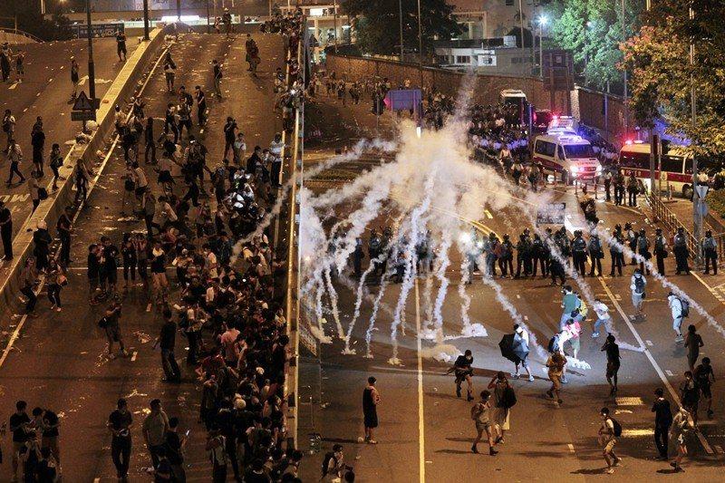 圖為2014年9月香港雨傘運動現場。 圖/美聯社