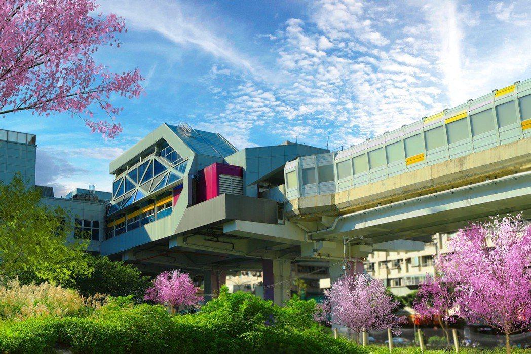 幸福捷運站今年即將開通,相距100米的便利。 賓陽建設/提供