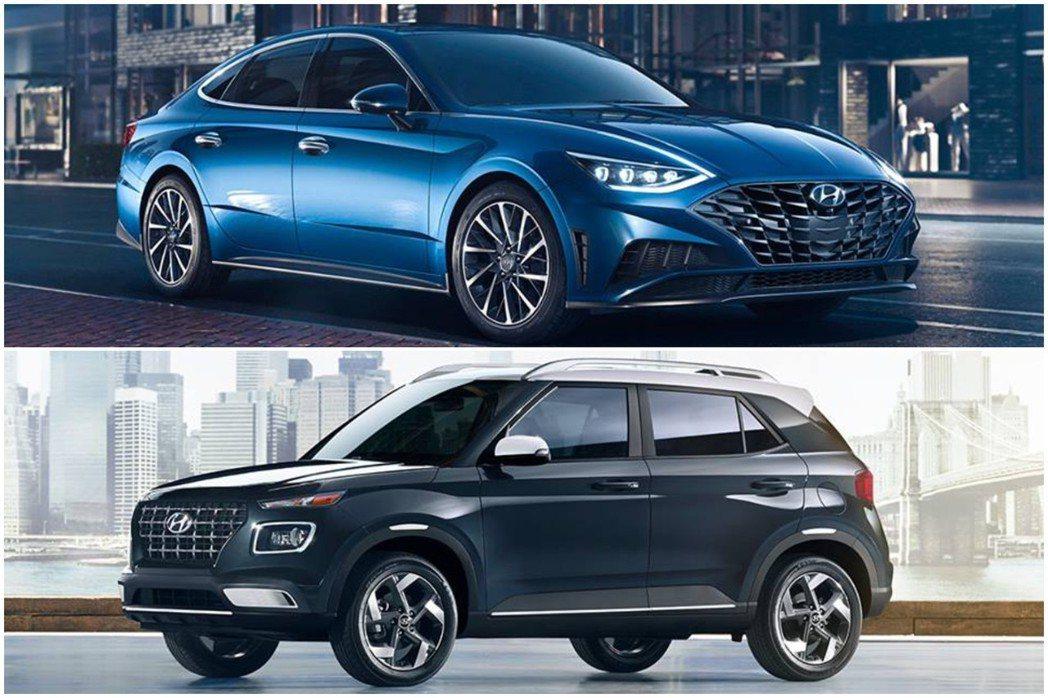 Hyundai於2019紐約車展中揭示了新世代美規Sonata與全新入門休旅Ve...