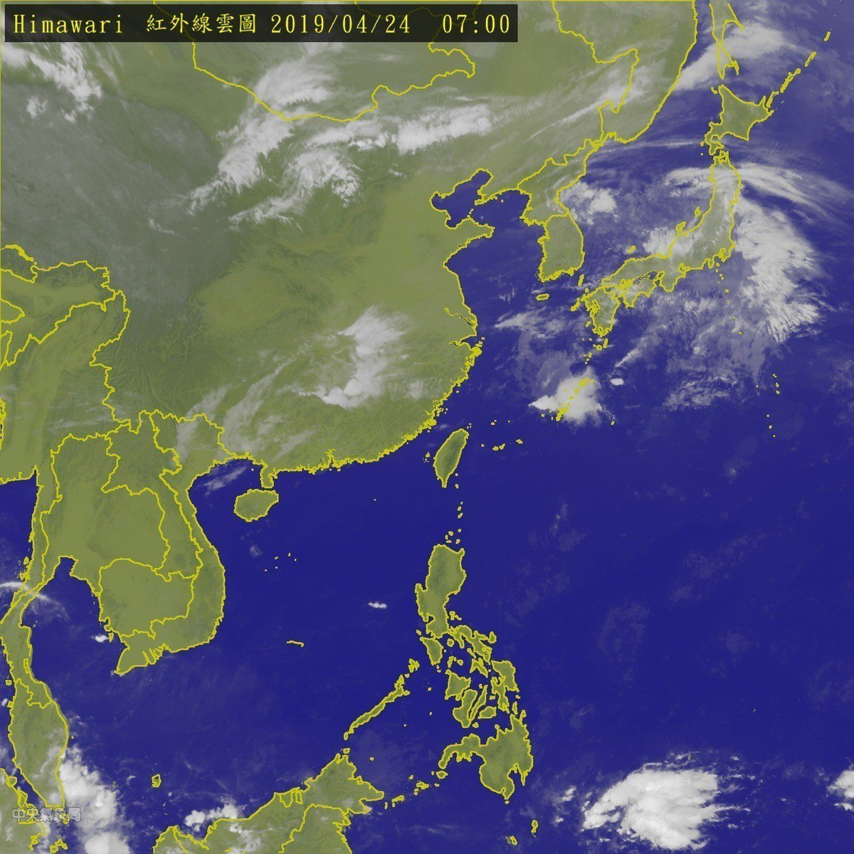 今天全台灣仍然相當晴朗穩定。圖/取自氣象局網站