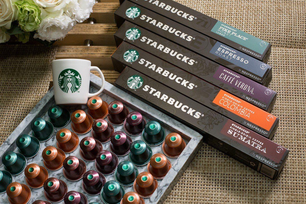 星巴克Nespresso咖啡膠囊,5種風味,建議售價單盒210元,預計2019年...