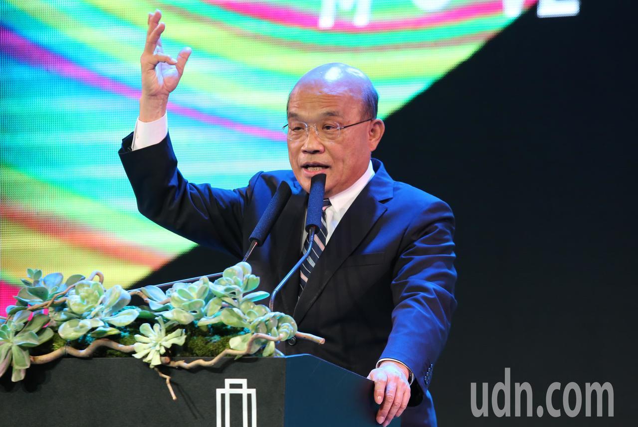 行政院長蘇貞昌(圖)上午出席台灣文博會開幕典禮。記者曾學仁/攝影