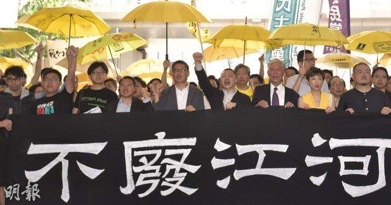 香港西九龍裁判法院今日就佔中案9被告作出判刑。取自明報