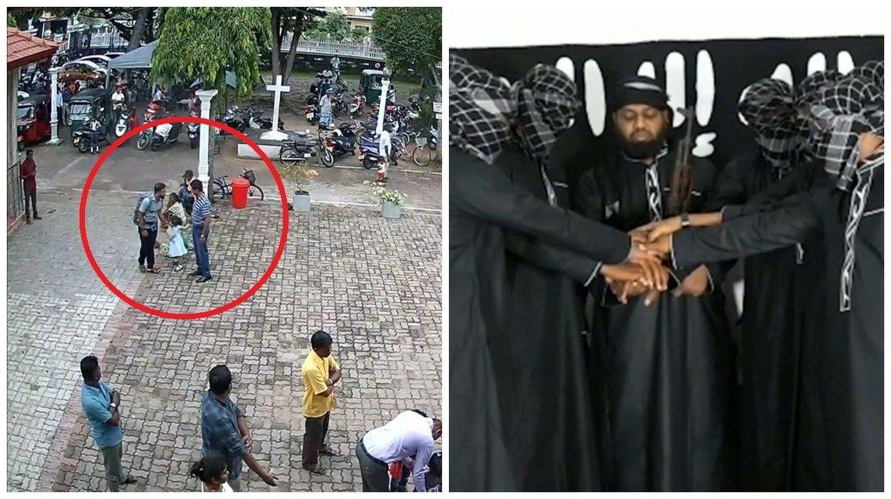 斯里蘭卡日前發生321人死亡與超過500人受傷的復活節連環爆炸事件,左圖為當局2...