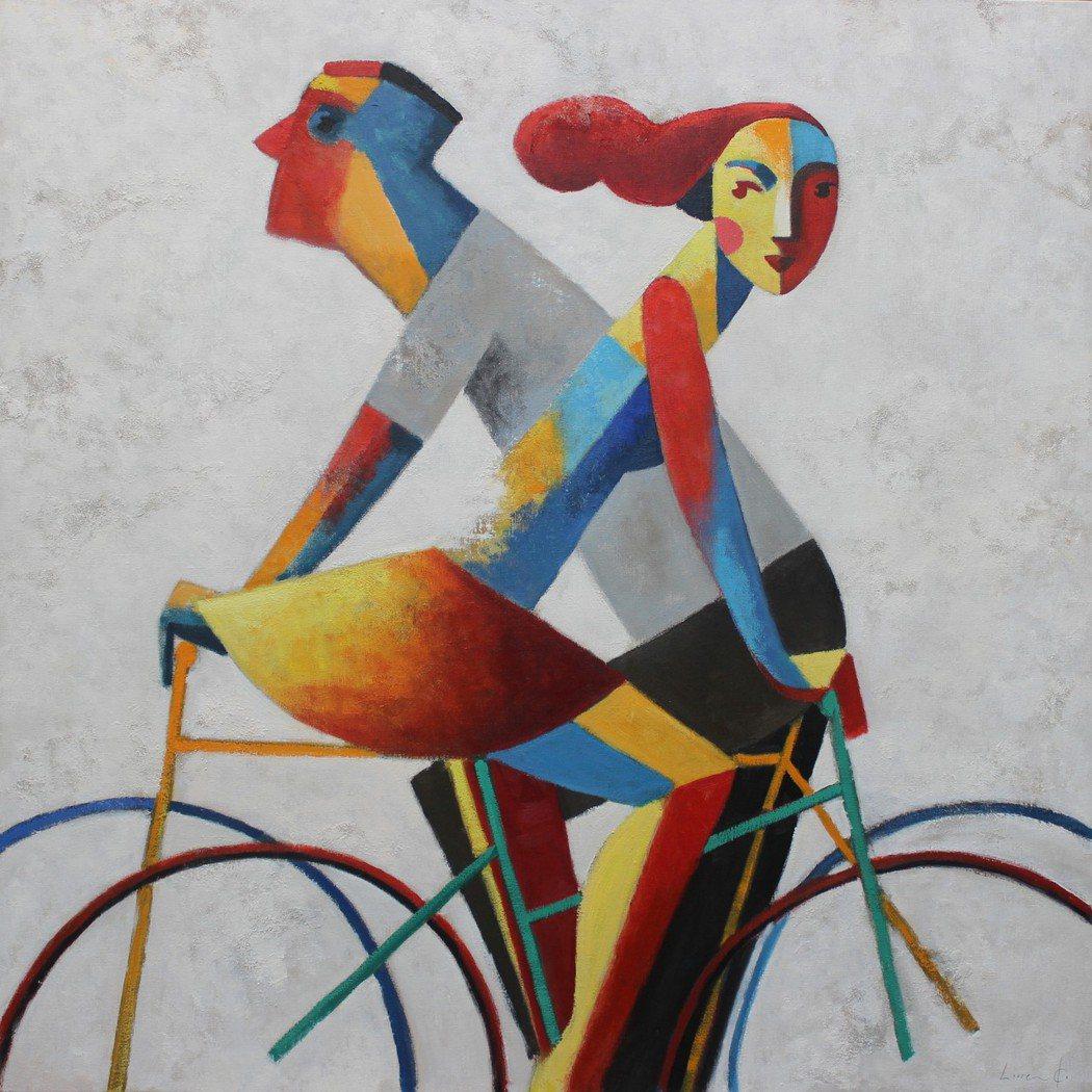 西班牙Didier Lourenço的《路口》-油畫,100×100cm,201...