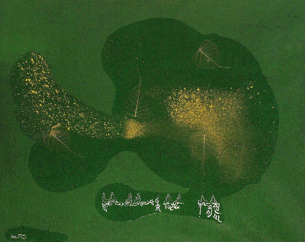 台灣李善單+瑪馨玲月的《需•菩提/體》-複合媒材, 91×72.5cm ,201...