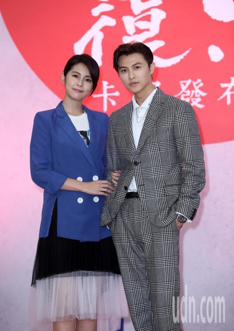 八大電視「覆活」卡司發布記者會,主要演員邱勝翊(王子)、任容萱、黃仲昆、吳岳擎、姚以緹出席。