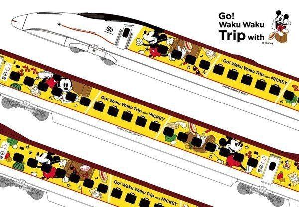 米奇彩繪列車共有6節車廂,均有米奇的裝飾圖繪。圖/取自日本迪士尼官網