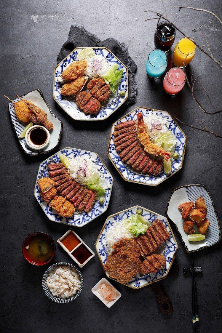 京都勝牛新推出夏宴套餐,一次可品嚐到多種招牌商品。圖/京都勝牛提供