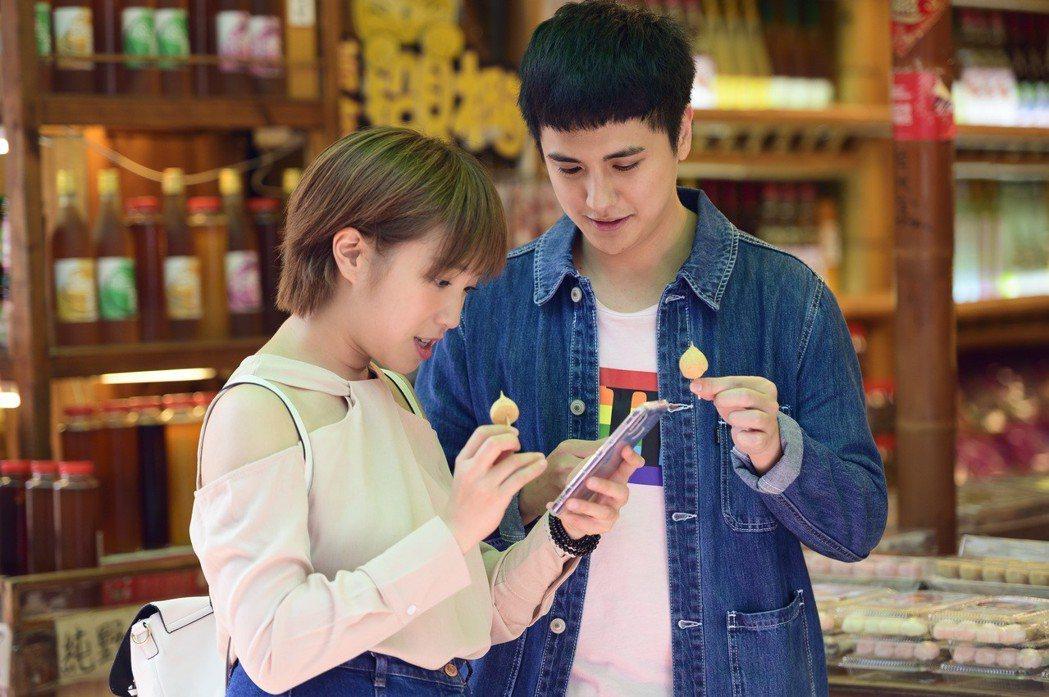 梁舒涵(左)、曾子余戲中感情開始萌芽。圖/TVBS提供
