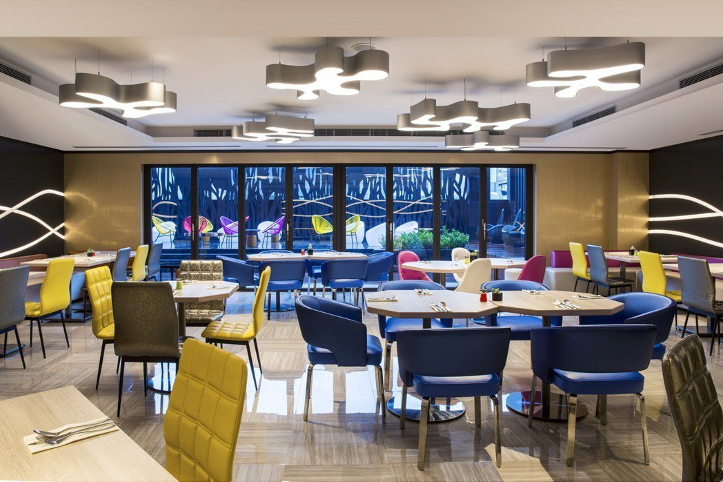 台北北投雅樂軒酒店3樓的Nook聚聚樂餐廳。台北北投雅樂軒酒店/提供