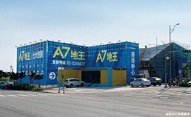 竹城建設的「A7地王─竹城甲子園」,坐擁4,352坪超大基地。 業者/提供