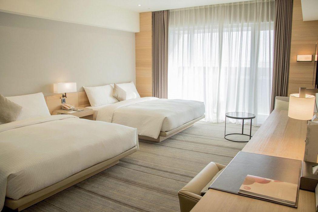 和逸飯店台南西門館和逸客房4人房。  國泰飯店觀光事業 提供