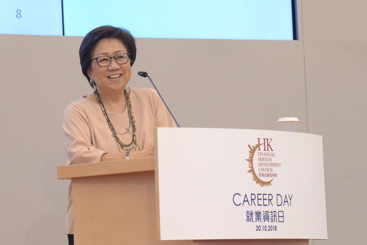 港交所主席史美倫。 香港中國通訊社