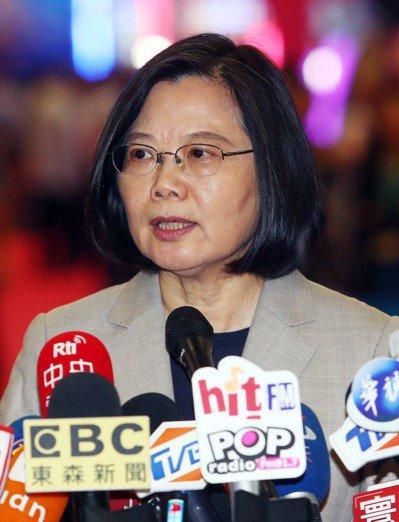 蔡總統今出席2019台灣電子遊戲機國際產業展(GTI)時接受媒體採訪表示,台灣海...