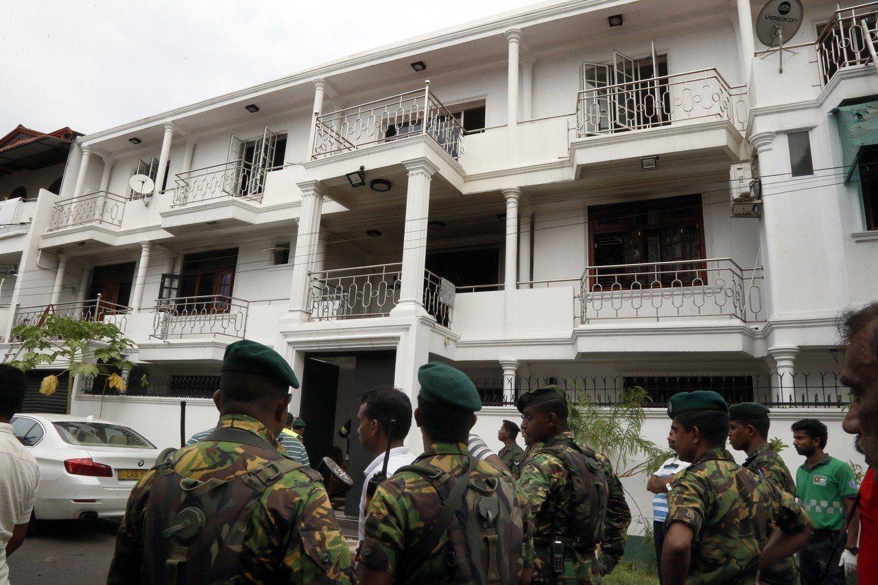 斯里蘭卡香料大亨伊布拉欣住家被包圍。歐新社