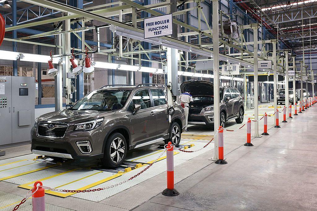 Subaru CKD泰國組裝廠,共投入新台幣約50億元資金,廠區面積超過100,...