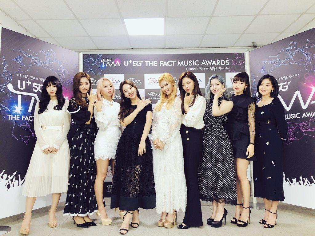 TWICE出席「The Fact Music Awards」。 圖/擷自TWIC